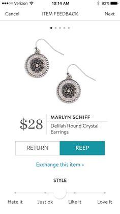 Marlyn Schiff Delilah Round Crystal Earrings