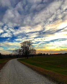 The road less traveled... #sky #clouds #sunset