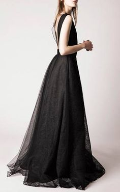 Sleeveless Lace A-Line Gown by Rochas for Preorder on Moda Operandi