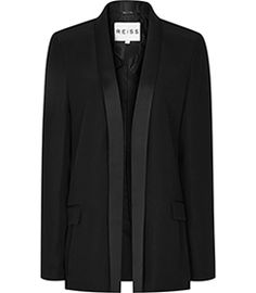 Womens Black Sharply Tailored Jacket - Reiss Charlize