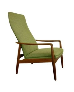 """""""Kontur"""" (contour) lounge chair by Alf Svensson for Dux, Sweden, 1957. I love the lines of this chair. And my parents have it! It's a beauty—and surprisingly comfortable, more so than it looks for such a slender chair! But I guess that's the thing with the Scandinavian (Denmark AND Sweden, thankyouverymuch; it was equally a Swedish thing, harumph) mid-century furnitury: it looks simple, basic even, but it was SO functional—and comfortable."""