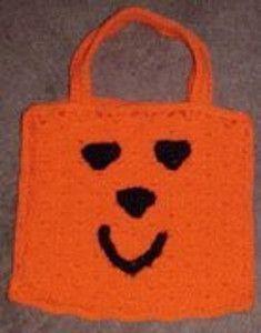 Happy Pumpkin Treat Bag | AllFreeCrochet.com