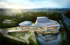 Gallery - designcamp moonpark dmp Wins Competition for Asan Cultural Arts Center - 1
