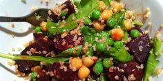 Quinoa, chickpea and roast beetroot salad Recipe on Cook My Way