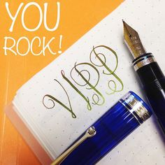 Keep on rockin' and writin' our Very Important Pen Pals. #mondaymotivation #flexnib #omaspen #fountianpen #handwriting #motivation @omas_official by goldspotpens