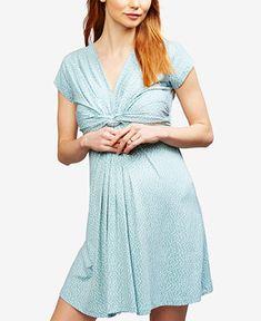 a4b9e4aa6a158 Seraphine Maternity Twist-Front A-Line Dress & Reviews - Maternity - Women  - Macy's