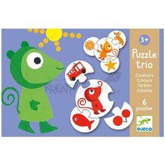 Puzzle trio színek Djeco
