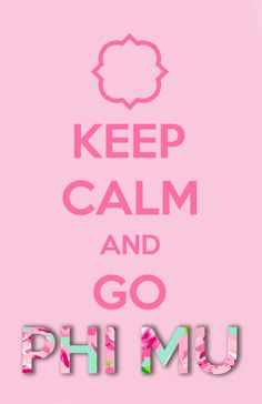 Got bored and made this. Go Phi Mu!