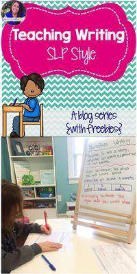 A series all about teaching writing (with lots of freebies!)
