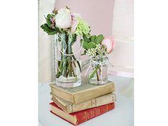 Centros mesa para boda con libros