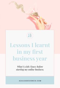 Lessons I learnt in my first year of being an entrepreneur Start Up Business, Starting A Business, Business Tips, Online Business, My First Year, I Wish I Knew, Startups, Girl Boss, Creative Business