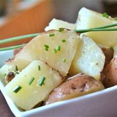 Boiled Potatoes with Chives  This is delightful side dish and so easy!!