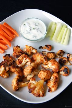 """Another easy and delicious cauliflower recipe on blog today. """"Spicy cauliflower bites"""" are the perfect evening snack or appetizer which can be made in 30 mins. With only 5 ingredients it really packs a flavor punch."""