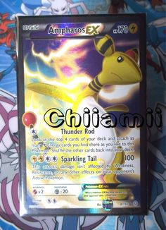 This is an ultra rare Full Art card of the Cool Electric Sheep Pokemon Ampharos! This EX. card is very rare to find, it is in VGC and has never been played, but it does have a few tiny. light marks on the back of the card and a few at the edges. | eBay!