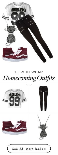 """""""Homecoming foot ball game"""" by swimminwithsharks on Polyvore featuring Paige Denim, Vans and Jewel Exclusive"""