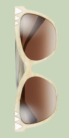 Love the shiny geometric hardware on corners of these bold retro sunglasses.