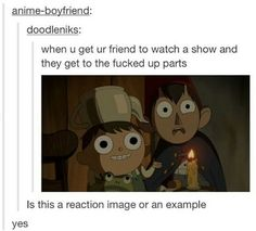 Over the garden wall so true tho