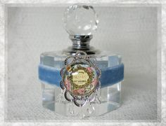 Antique French Label Perfume Bottle by jewelsofthecity on Etsy, $22.99