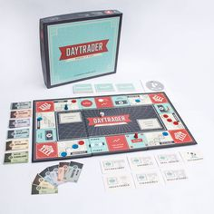 Day Trader: Financial Board Game  - The Dieline -