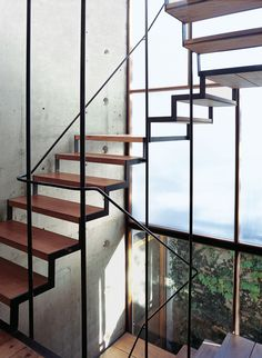 Minimal staircase; love it. I want to build a loft, and stairs like this going up to it!