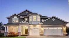 Faux wood garage doors with curb appeal. Looks and feels like real wood garage doors. Comparable to Clopay Canyon Ridge Faux Wood Garage Door, Garage Doors, House Doors, Wood Doors, Entrance Doors, Car Garage, Casas Country, Rive Nord, Traditional Exterior