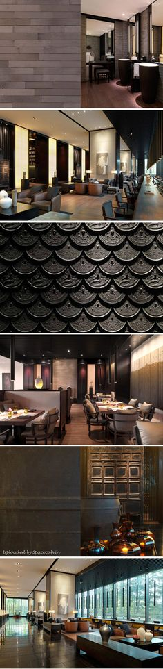 The PuLi Hotel and Spa by Kume Sekkei Architecture & Layan Design Group Space Interiors, Hotel Interiors, Commercial Interior Design, Commercial Interiors, Chinese Interior, Asian Interior, Public Hotel, Living Comedor, Restaurant Design