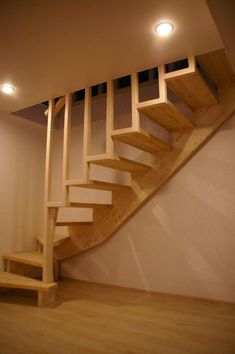The ones I want  These #DiseñoDeEscaleras Loft Stairs, House Stairs, Stairs Window, Basement Stair, Closet Remodel, Attic Remodel, Escalier Art, Rustic Stairs, Wooden Stairs