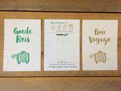 Goede reis - kaarten op groeipapier voor www.reisbijbel.nl