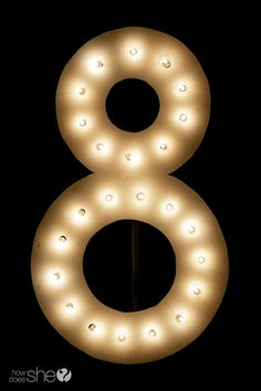 Life with Fingerprints: DIY Number Marquee Mummy Crafts, Crafts To Do, Home Crafts, Diy Crafts, Diy Marquee Letters, Light Letters, I Spy Diy, Display Lettering, Birthday Numbers
