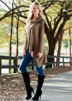 Sweter kopertowy Sweter kopertowy z • 124.99 zł • Bon prix