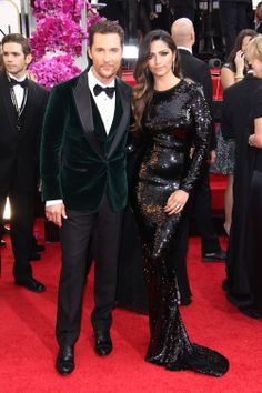 #MatthewMcConaughey and #CamilaAlves in Dolce & Gabbana #goldenglobes #redcarpet101
