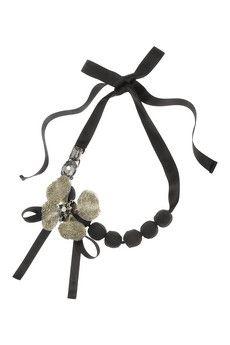 Marni + V&A Swarovski crystal, horn and pyrite necklace | NET-A-PORTER