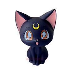 Sailor Moon For Girls LUNA Figure Banpresto 20th Anniversary Atsumete Part 1 USA #Banpresto