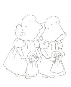 Lace 'n' Ribbon Roses: Sunbonnet Sue and Hannah With Their Dolls