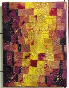 """'In dreams.""""  Embellished art quilt. Hand quilted."""