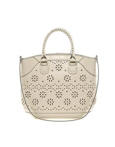 asos leather shopping bag with cutout details