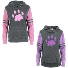 Purple Paw Stripe Burnout Pullover Hoodie : The Animal Rescue Site Modest Outfits, Cool Outfits, Casual Outfits, Hooded Sweatshirts, Hoodies, Animal Rescue Site, Cute Hoodie, Dog Shirt, Pet Clothes