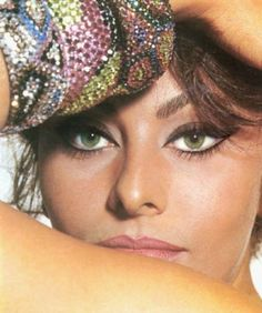 "Sophia Loren; notice the eyes. Her eye-liner style is considered a ""new"" trend!"