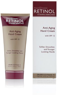 Retinol Anti-Aging Hand Cream with SPF 12 contains Vitamins A and E which help minimize the appearance of wrinkles and diminish the visible signs of aging. Have it in not only my kits but in my car and next to my bed & in my bathroom-don't leave home without it !!! Alexis Rule # 1