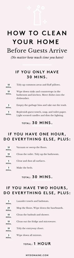 The Ultimate Guide to Cleaning Your Home in an Hour via @MyDomaine