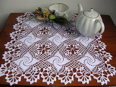 Crochet doily lace tablecloth centerpiece crochet by MondoTSK