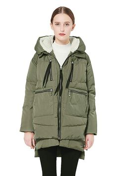 online shopping for Orolay Women's Thickened Down Jacket (Most Wished &Gift Ideas) from top store. See new offer for Orolay Women's Thickened Down Jacket (Most Wished &Gift Ideas) Winter Maxi, Women's Puffer, Puffer Coats, Very Short Dress, Embroidered Shorts, Cap Dress, Cosplay Dress, Down Coat, Green Jacket