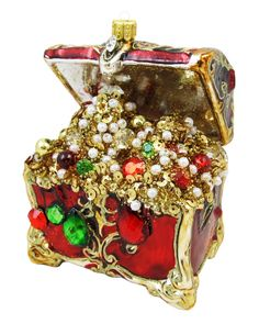 Treasure Chest Christmas Ornament - ShopGlad - Where ONLINE SHOPPING is a PLEASURE #ShopGlad #Christmas