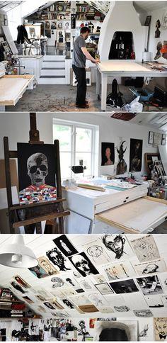 Waldersten's studio ( http://mialinnman.blogspot.com/2012/02/walderstens-studio.html )