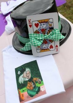 party favors for the boys. Alice in Wonderland