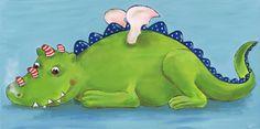 Bilder für Kinder - Kinderzimmerbild Drache Geschenk zur Geburt, Taufe, Geburtstag