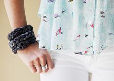 DIY jersey bracelets