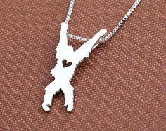 Orangutan, sterling silver necklace, handmade animal jewelry