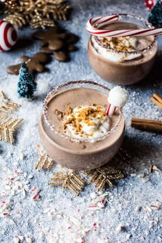 The North Pole - Think gingerbread martini meets chocolate martini, basically Christmas in a cup with a hit of vodka, all things cozy! @halfbakedharvest.com