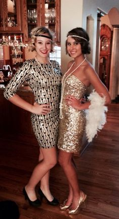 Flapper costume inspiration - both of these looks are so incredibly gorgeous, I'd probably sleep in them